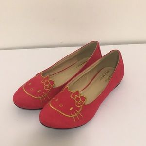 ModCloth for Hello Kitty red slip on shoes size 9